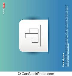 Business bar graph icon - Blue Sticker button
