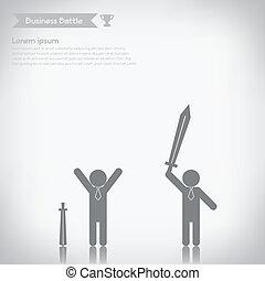 Business battle concept, vector eps10