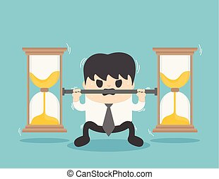business bear the weight of the hourglass