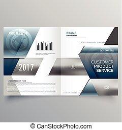 business bifold brochure creative design template