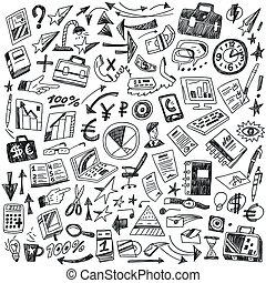 Business - big doodles set