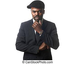 business black man - Portrait of a sexy black man in suit