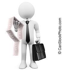 business, blanc, gens., facture, 3d