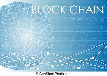 Business block chain illustration. - Vector illustration on...