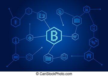 Business block chain illustration. - Vector illustration of...