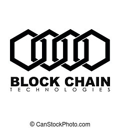 Business block chain logo illustration. - Business theme...