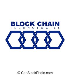 Business block chain logo illustration. - Business theme ...
