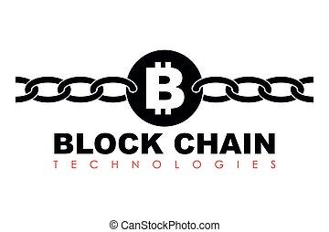 Business block chain logo illustration. - Business theme...