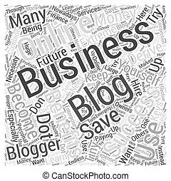 business blogging Word Cloud Concept