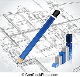 business blueprints illustration design