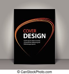 Business Book Cover Design Template in A4. Can be adapt to Brochure, Annual Report