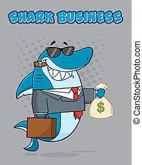 Business Boss Shark In Suit