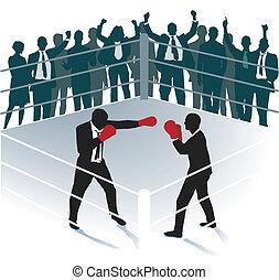 Business boxing match
