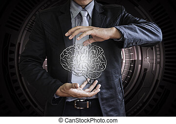 Business brain control no technology background