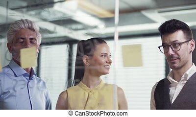 business, brainstorming., gens, bureau, groupe