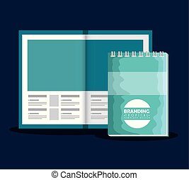 business branding brochure with notebook product vector...
