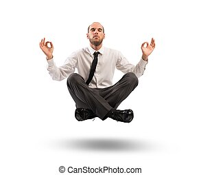 Business break - Concept of relax with businessman doing...