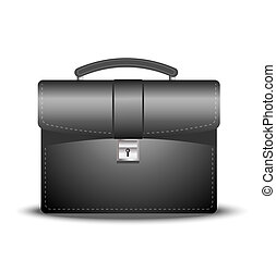 business brief-case on a white background, vector...