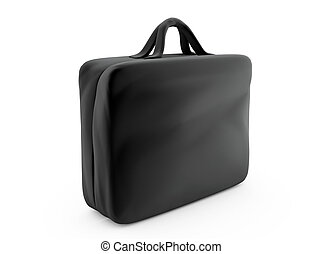Business Briefcase Isolated on White Background 3D render
