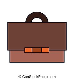 Business briefcase symbol isolated cartoon