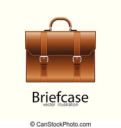 Business briefcase vector illustration isolated on white background.