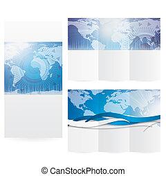 Business brochure blue design illustration