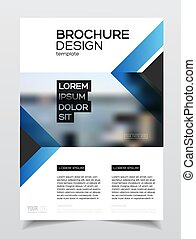 Business Brochure design. Annual report vector illustration...