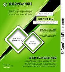 Business brochure design, flyer template.