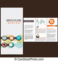 Business brochure design with icons