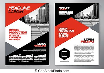 Business brochure flyer design a4 template. Vector...
