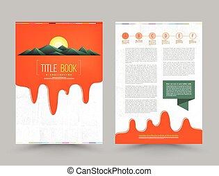 brochure flyer design layout