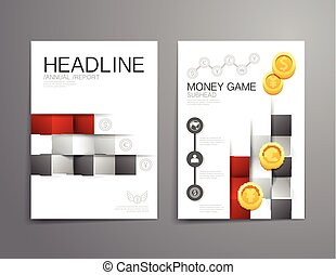 Business brochure, flyer, magazine cover design template vector