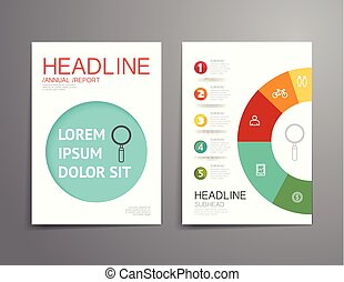 Business brochure, flyer, magazine cover design template vector.layout education annual report A4 size.