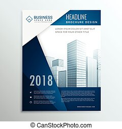 business brochure leaflet cover page design for annual report vector illustration