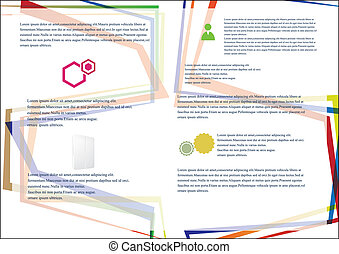 Business brochure template on the white background