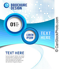 Business brochure template - Poster design content...