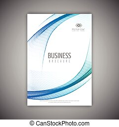 business brochure template with flowing lines design 2007