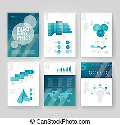 Business brochure template with infographics