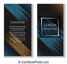Business brochure template with motion lines