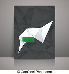 business brochure template with triangles