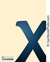 Business brochure with striped X