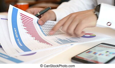 Business Broker Analyzing Stock Data