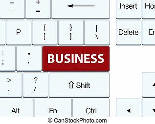 Business brown keyboard button
