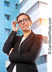 Business Brunette Woman