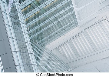Business Building Abstract Background With a Unique Perspective View