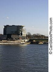 Business building Deutz bridge