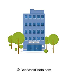 Business building illustration