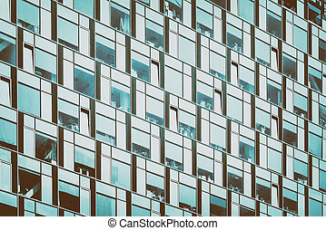 Business Building Windows Abstract