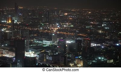 business building with offices at night. cityscape with financial centers. urban