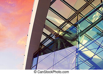 Business buildings architecture on sky background - Business...